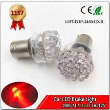 1X 1157 BAY15d P21/5W Super Red 24 LED SMD Bulb Car Brake Turn Tail Light DC12V