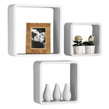 Premier Housewares 2401350 Étagères Lounge Cube Style Rétro Blanc