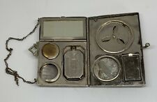 Antique Art Deco Silver Metal Compact Purse