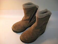SOREL Boots Water Fall Women's Brown Leather Waterproof Slip On Insulated - US 6