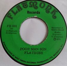 "FLATBUSH ~ UGLY POLICEMAN reggae ROOTS ska 45 7"" ~ HEAR IT on FLATMONK"