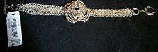 NWT $45 ABS Allen Schwartz Golden Woven Knot Bracelet 7 Inches