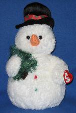 TY CLASSIC PLUSH - MR. FLURRIES the SNOWMAN - MINT TAGS