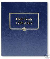 Whitman Album Half Cents 1793-1857