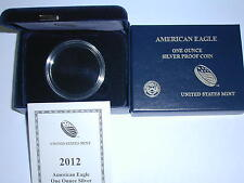 2012-W AMERICAN EAGLE ONE OUNCE PROOF SILVER COIN BOX (NO COIN)