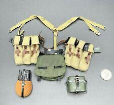 "1:6 Dragon WWII German Belt StG 44 Ammo Pouch Canteen Set for 12"" GI Joe DiD"