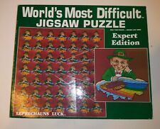 RARE Leprechauns Luck Expert Edition Double-Sided Jigsaw Puzzle - 500 Pieces