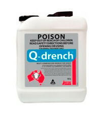 Q-Drench A Unique 4 way anthelmintic Drench for use in sheep 10 Litre *8485*