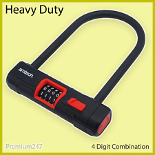 Heavy Duty D Lock Combination Bike Motorbike U Lock Scooter Bicycle Security
