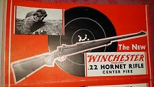 VINTAGE Orig WINCHESTER MODEL 54 22 hornet rifle BROCHURE POSTER ADVERTISEMENT 1