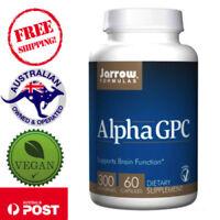 Alpha GPC 300 mg 60 Vegan Caps by Jarrow Formulas Protects Brain Function
