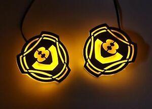 2pcs SCANIA V8 LED Mini Logo, stainless steel, 24v light, left and right, NEW!