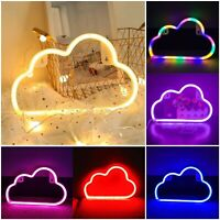 LED Cloud Neon Light Sign Night Lamp Wall Art Decorative Room Party Decor