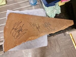Kyle O'Reilly, Davey Richards & Eddie Edwards HAND SIGNED Ring Used Broken Table