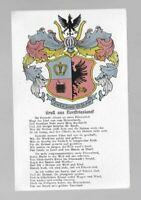 1253- Wappenkarte Gruß aus Nordfriesland * Friesenlied