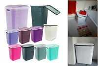 Extra Large Rattan Plastic Laundry Bin Multi Storage Solution Washing Basket Box