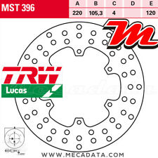 Disque de frein Arrière TRW MST 396 Piaggio GT 200 L Granturismo (M31) 2003