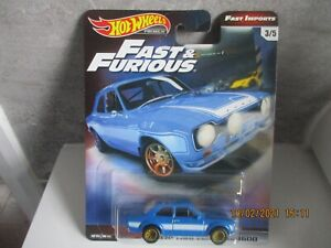 HOTWHEELS FAST & FURIOUS FAST IMPORTS 1970 FORD ESCORT RS 1600 RUBBER TYRES