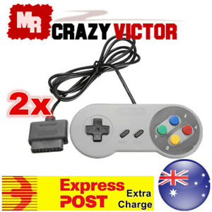 2x NEW 16 Bit Controller for Super Nintendo SNES Console Control Pad Gamepad