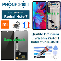 Écran complet LCD + tactile Xiaomi Redmi Note 7 + Outils, stock FR