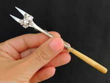 Antique 1850 Museum Quality ART Imperial Russian Silver 84 Handmade Olive Fork