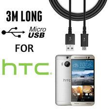 3 M Micro USB Cable de carga para HTC One XL A9 M7 M8 M9 Deseo HD 310 610 620 820