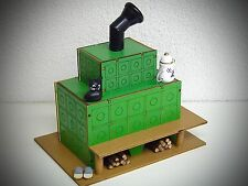 madera horno Casa ahumeante Figura Fumador Para Ahumar Estufa de azulejos Verde