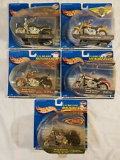 LOT SET OF 5 Hot Wheels Harley Davidson 1/18 Scale Die-Cast Motorcycle Models