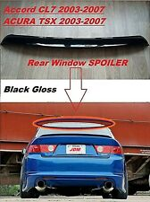 Acura TSX Roof Spoiler Window Wing Deflector Visor 2003-07 Honda Accord CL7 CL9