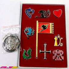 9Pcs Fairy Tail Lucy Heart Celestial Spirit Gate Key Chain Necklace Pendant NWB