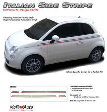 Body Line Thin Red Green Italian Stripe Vinyl Graphic Decal 2011-2015 Fiat 500