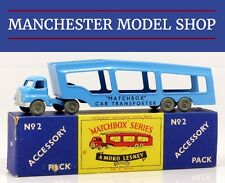MATCHBOX Lesney Accessorio Pack 2-A BEDFORD S CAR TRANSPORTER grandi lettere in scatola