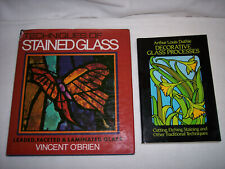 2 ADVANCED PROJECT INSTRUCTION BOOKS ON DECORATIVE STAINED GLASS & DESIGN