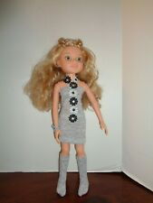 "FUN SIMPLE GRAY  DRESS OUTFIT FOR 18"" BFC INK DOLLS"