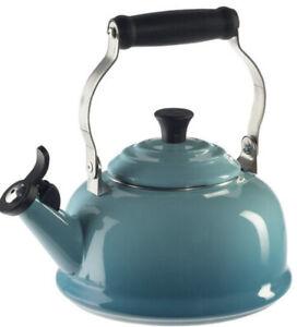 LE CREUSET  OOLONG WHISTLING TEA KETTLE 1.6 QT. NEW ORIGINAL BOX CARIBBEAN BLUE