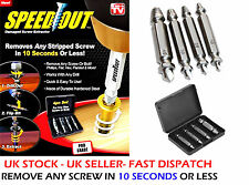 Speed Out 4 PCS Screw Extractor Tool Set Drill Bits Broken Damaged Bolt Remover