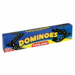 Black Dominoes box Game Travel Children Toy Double Six Kids Classic UK SELLER