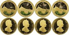 Saint Helena 25 Pence 4 Pieces (PCS) Coin Full Set, 2013,Bird Life of St. Helena
