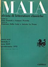 MAIA. RIVISTA DI LETTERATURE CLASSICHE n.s. anno XXIV fasc.1