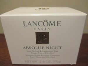 Lancome Absolue Night Recovery Treatment Face, Throat and Decollete 2.6 oz