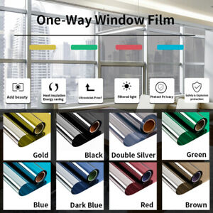 Window Film One Way Mirror Effect Film Protect Privacy Self-Adhesive Decorative