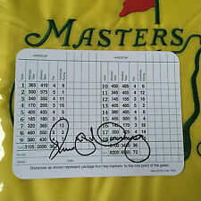 Rory Mcilroy Full Signature Augusta National Golf Club Scorecard Masters PGA
