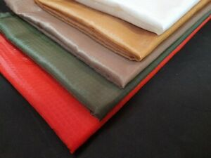40gsm*, LIGHT & STRONG NYLON RIPSTOP FABRIC  (5 COLOURS) 1,2,5,10 & 20 metres