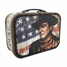 John Wayne The Duke Metal Tin Tote Lunch Box Hollywood Star Legend Multi-color
