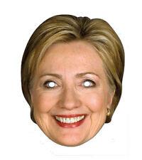 Hillary Clinton SINGOLO 2D Card Party Face Mask - AMERICANO politico USA trucco