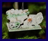 Hasengespann - Ornament aus Karton  um 1930    (# 2358)