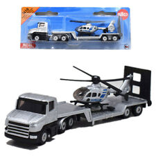 """Siku 1610 Polizei Low Loader with Helicopter Eurocopter Metal Model 6"""" Toy"""