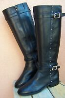 VINCE CAMUTO Womens Knee High Fashion Boots Soft Black Leather Riding Size 6.5M