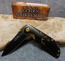 Rite Edge Wildlife Series Laser Cut Elk Design Pocket Knife 211193-Ek