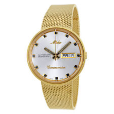 Mido Commander I Silver Dial Gold-tone Mens Watch M842932113